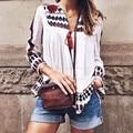 Vintage Boho Étnico Tassel Kimono Cardigan Boho Blusa Femenina 2016 Resorte de Las Mujeres Con Flecos Kimono Camisa Protector Solar Chaqueta de la nave de la gota