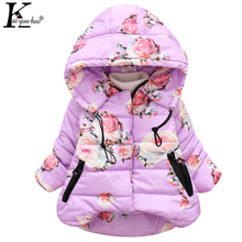 KEAIYOUHUO Winter Baby Girls Coats Warm Hooded Down Jackets For Kids Outerwear Long Sleeve Children Clothing