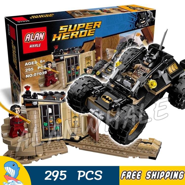 295pcs Super Heroes Batman Resuce from the Ra's al Ghul 07039 DIY Model Building Blocks Children Toys Brick Compatible With lego
