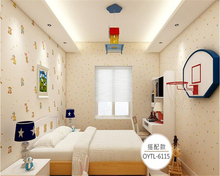 beibehang High-grade fashion green non-woven childrens room bedroom warm cute little animals boy girl papel de parede wallpaper