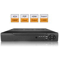 4CH Full HD 1080P HDMI CCTV P2P Cloud Security Surveillance 1U NVR ONVIF