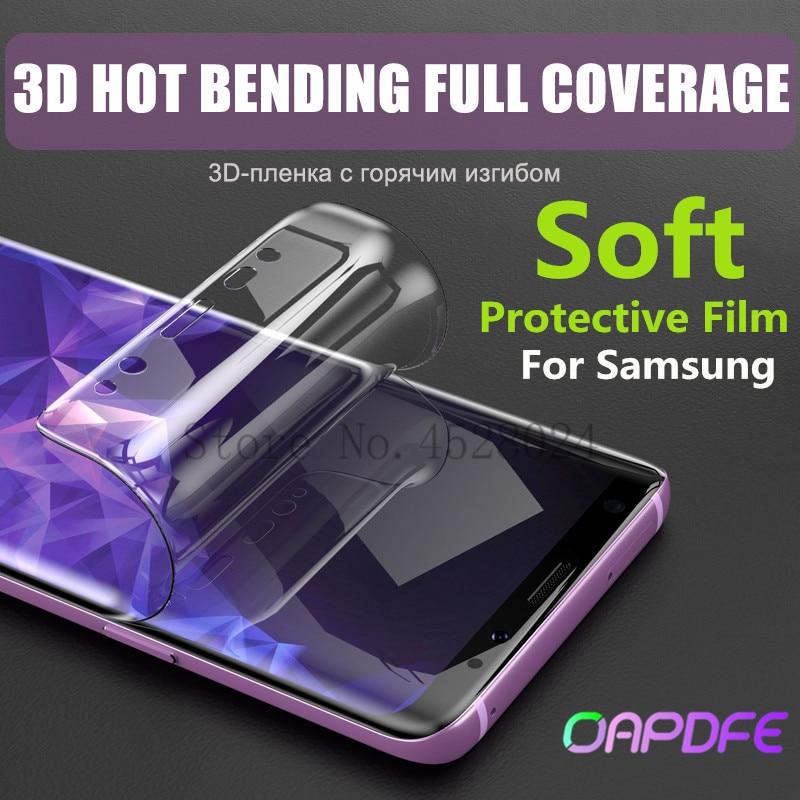 מגן סרט לסמסונג גלקסי S7 קצה S8 S9 בתוספת רך מלא מעוקל מסך מגן סרט עבור Samsung הערה 8 9 (לא זכוכית)