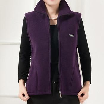 UHYTGF 2018 New Fleece Women Vests Autumn Korean Plus size Sleeveless Jackets Ladies Fashion Zipper Casual Waistcoat Female 442 12
