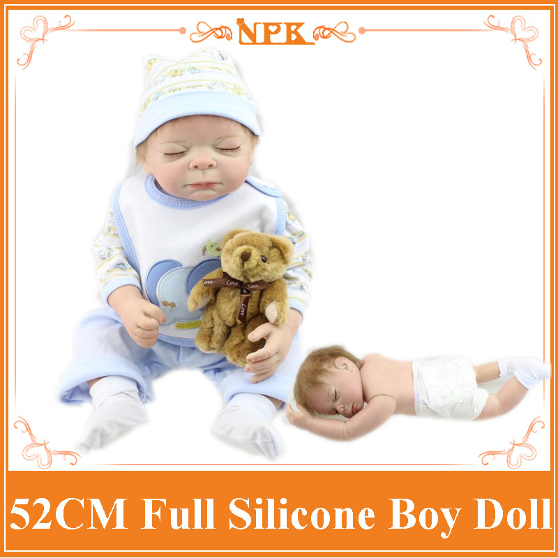 New 52Cm Full Silicone Reborn Baby Doll Toys Sleeping -3901
