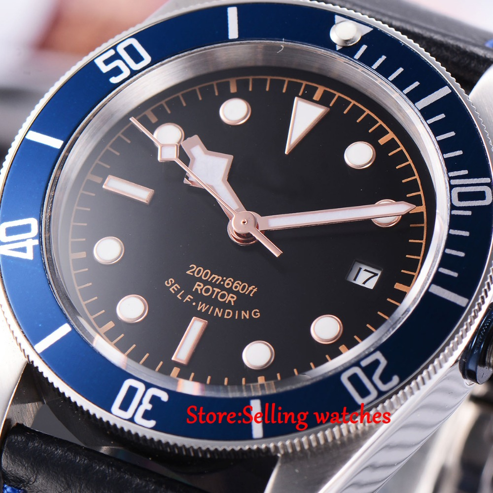 41mm corgeut Sapphire Glass 21 jewels miyota Automatic 20ATM mens diving font b Watch b font