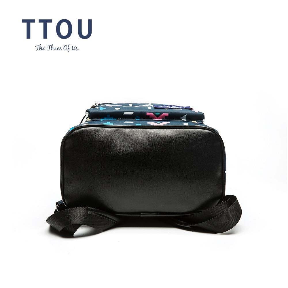 TTOU дизайн цветни триъгълник печат - Раници - Снимка 5