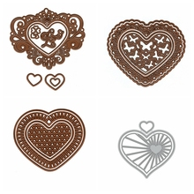 Love Heart Frame Single Shape Metal Cutting Dies Stencil For Scrapbooking Album Embossing Decorative DIY Handcrafts Templates