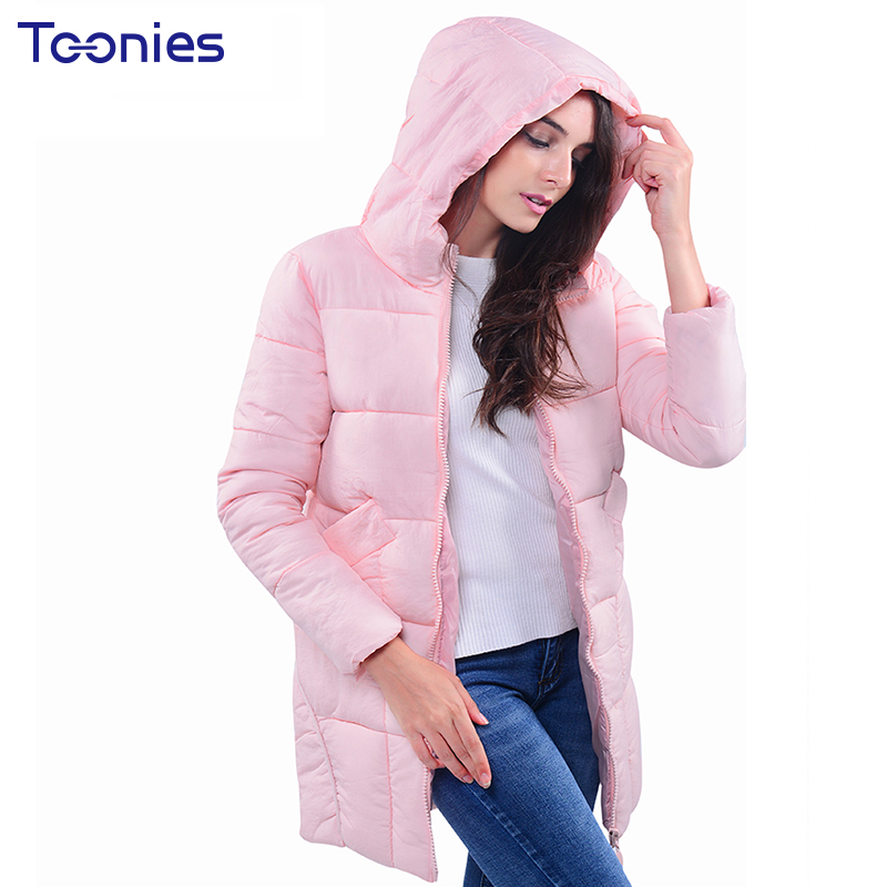 Plus Size 3XL Women Coat Winter Jacket Parkas Thick Overcoat Padded Parkas Hooded Casual Female Long Clothes Pocket Zippers 2017 plus size 3xl women winter parkas coat padded jacket hooded thick overcoat warm letter medium long female tops jackets outwear