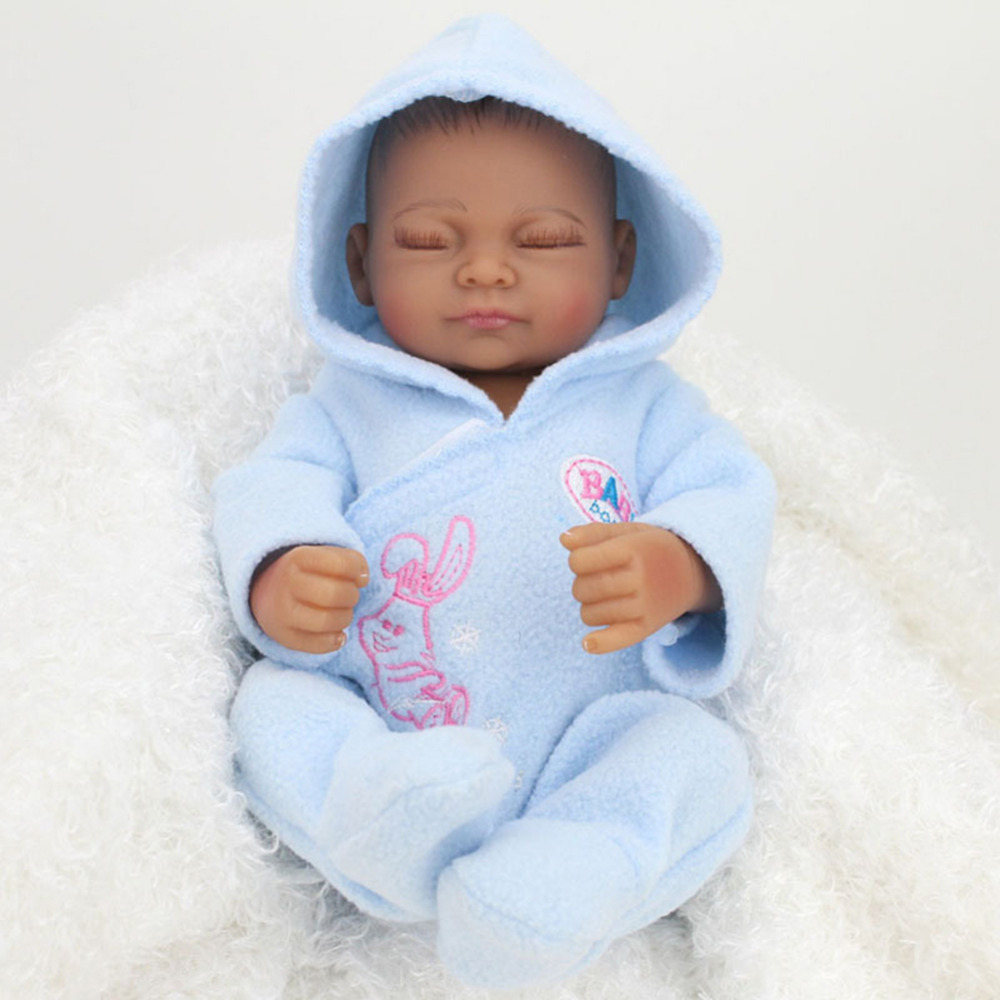 Lovely Soft Rubber Simulation Reborn Baby Dolls Eyes Closed ...