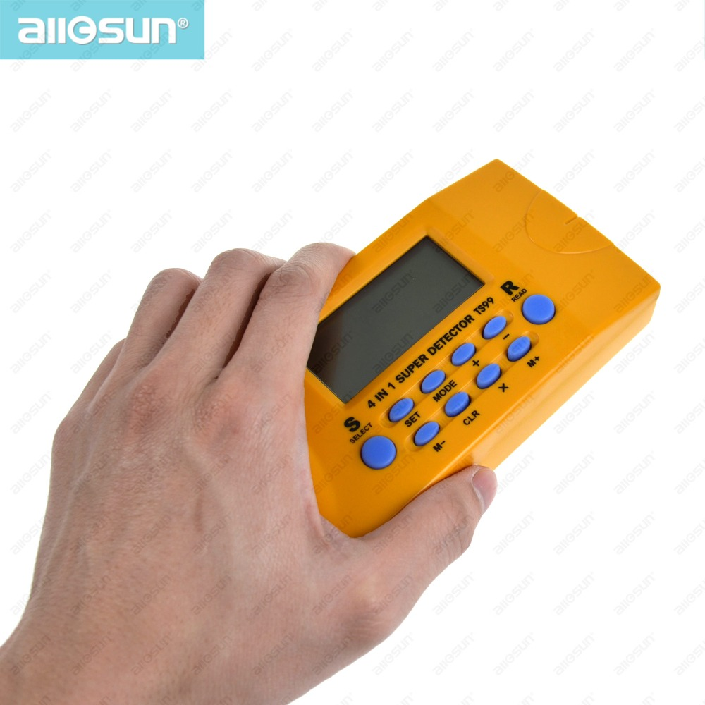 all-sun TS99 4 in 1 super detector ultrasonic household detector Stud/Metal/Voltage/Distance laser AC wires metal detector
