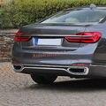 ABS хромированные задние нижние литые накладки на бампер 3 шт для BMW 7 серии G11/G12 2016-2018