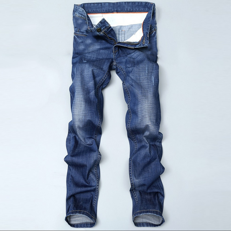 Fashion Men s Jeans Pants Utral Light Thin Spring Summer Slim Fit Straight Long Trousers MX8