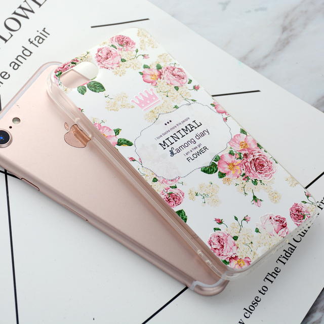 Flower Silicon Girly Phone Case