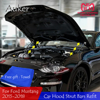 For 2015 2016 2018 Ford Mustang Refit Hood Engine Cover Hydraulic Rod Strut Bar Spring Shock Car Styling