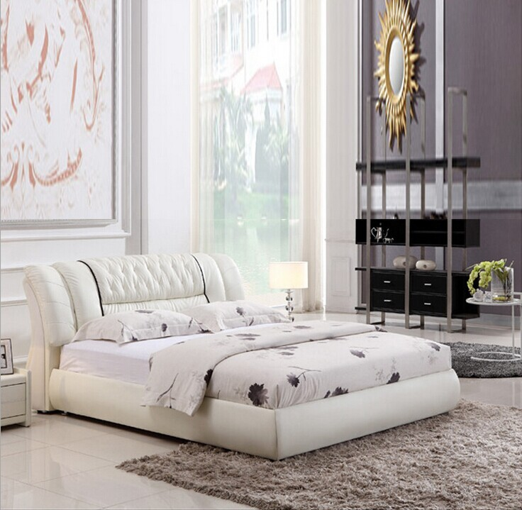 Marriage Bed Leather Bed Leather Bed Headboard Cowhide