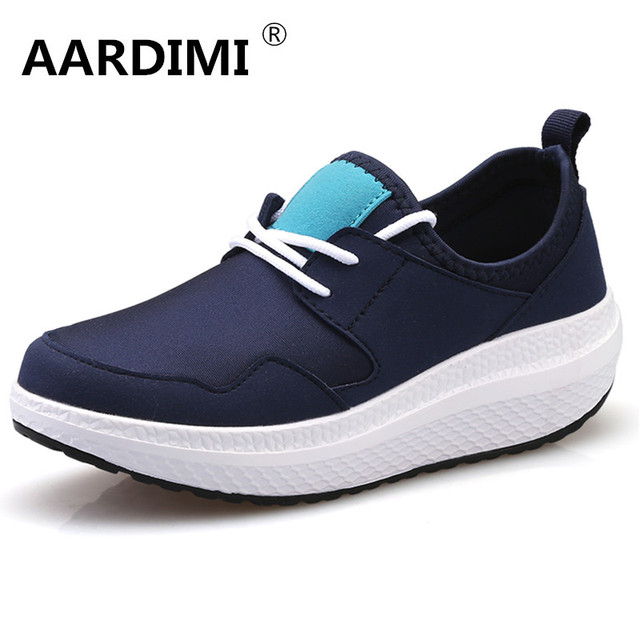 Top quality designer height increasing designer breathable women shoes casual solid platform shoes woman zapatillas deportivas