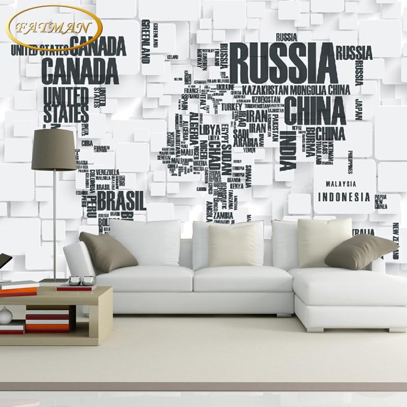 Custom 3D photo wallpaper world map mural wallpaper sofa TV backdrop wallpaper bedroom wallpaper papel de parede book knowledge power channel creative 3d large mural wallpaper 3d bedroom living room tv backdrop painting wallpaper