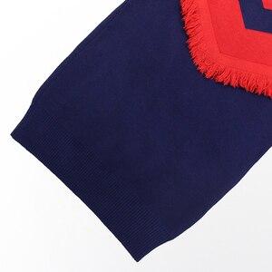 Image 5 - שמלת בנות מסיבת סתיו סוודר שמלת בנות פסים ילדים שמלת חורף בנות בגדים סרוגים 6 8 10 12 13 14 שנה