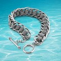 Fashion Genuine Solid 925 Sterling Silver Super Men's Roll Chain Bracelet