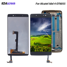 цена на For Alcatel Idol 4 OT6055 Display Screen LCD Display Touch Screen Digitizer Assembly For Alcatel Idol 4 OT6055 6055P 6055K