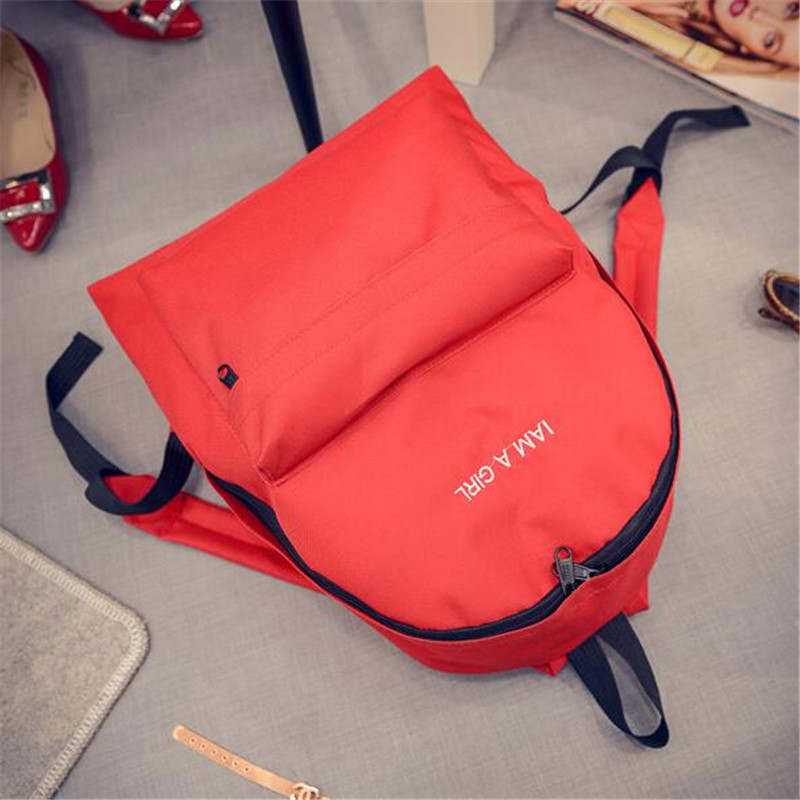TAKEM 2018 Women Backpack High Quality School Bags For Teenagers Girls Top-handle Backpacks Solid color simple style travel bag