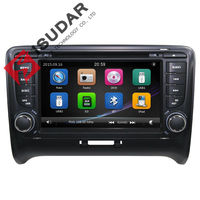 Capacitive Screen Two Din 7 Inch Car DVD Player For Audi TT 2006 2012 Canbus Radio