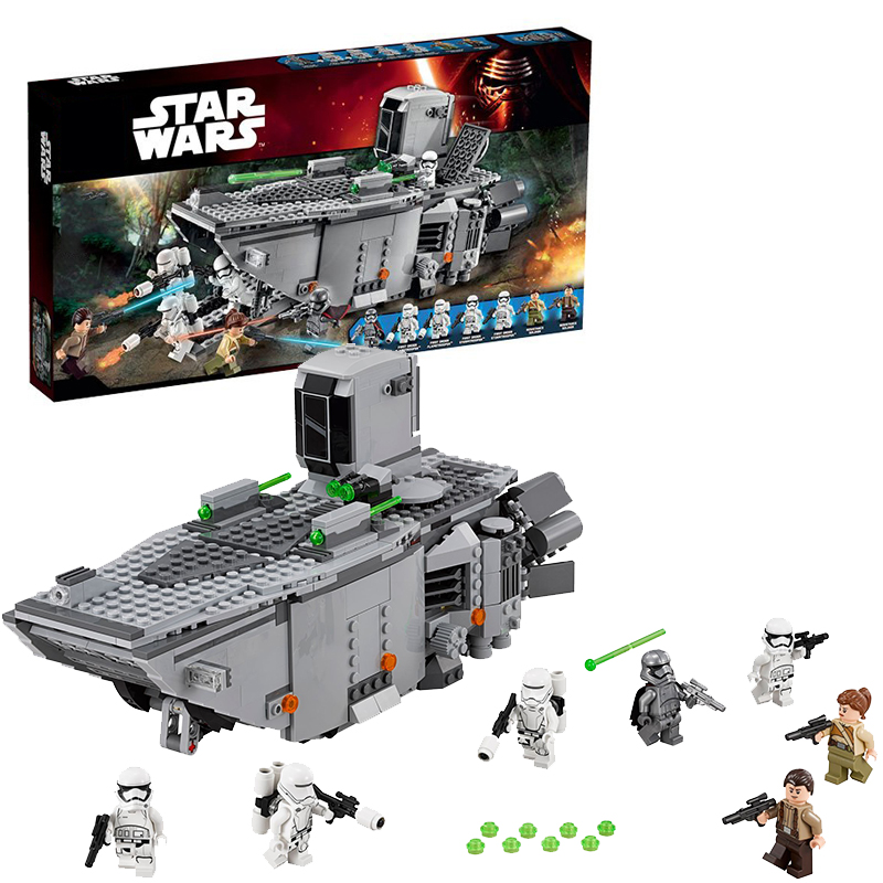 Lepin 05003 Star Wars First Order Transporter building bricks blocks Toys for children Game Compatible with Decool Bela 75103 lepin 02025 city the high speed racer transporter 60151 building blocks policeman toys for children compatible with lego