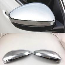 Abaiwai ABS Chrome Зеркало заднего вида чехол для peugeot 3008 II 2017 2018 2019 MK2 3008 GT углеродного волокна автомобилей Стайлинг аксессуары