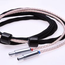 Black 16 Cores 5N Pcocc For SENNHEISER HD800 800S Headphone Upgrade Cable Extension cord недорого