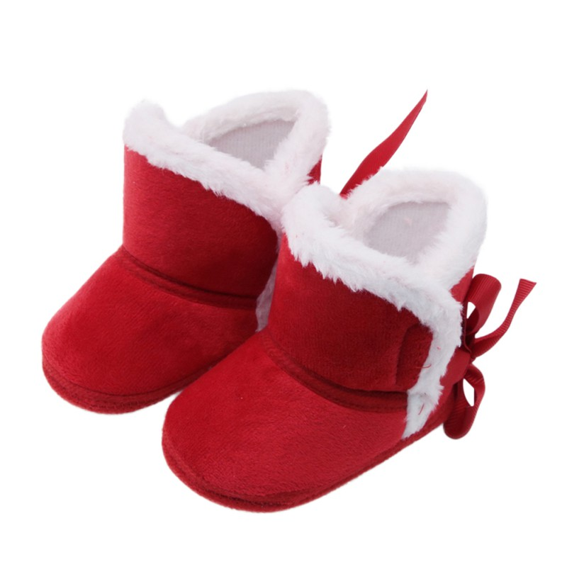 2018 New Baby Ankle Snow Boots Infant Crochet Knit Fleece Baby Shoes For Boys Girls