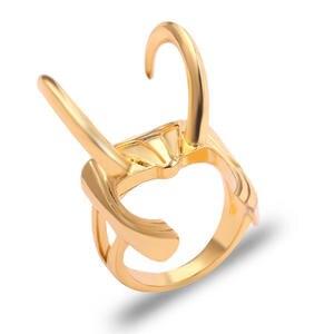 Avengers Endgame Loki Laufeyson Helmet Ring Adjustable Metal Figure Rings