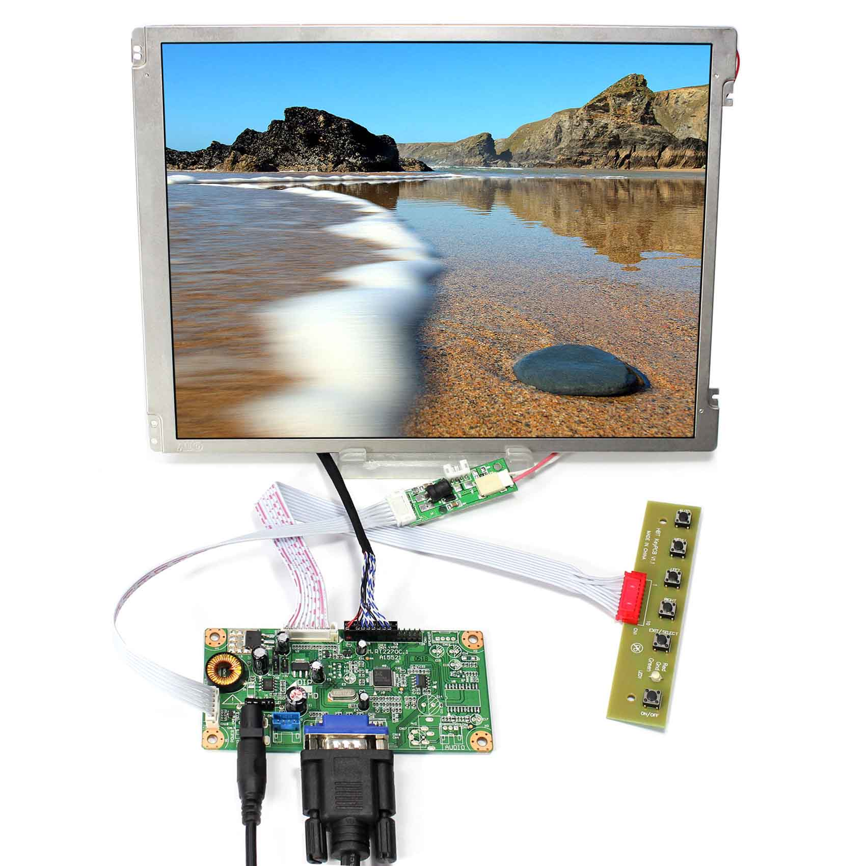цена VGA LCD Controller Board With 10.4inch 800x600 LED Backlight Replace G104SN03-V1