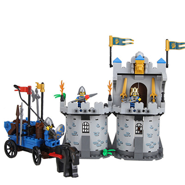 Enlighten Castle Series Medieval Castle Knight Pagoda Carriage Model Building Blocks Bricks Sets Compatible With Legoe