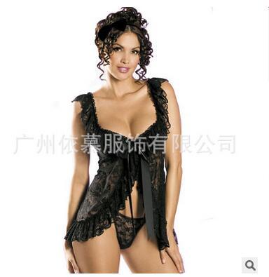 Lingerie de lingerie en dentelle noire et blanche sexy de haute qualité pour femme à S-6XL Extra Large - 2