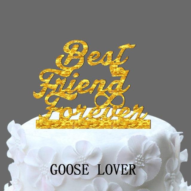 Online Shop Wedding Cake Topper Monogram , Best Friend Forever With ...