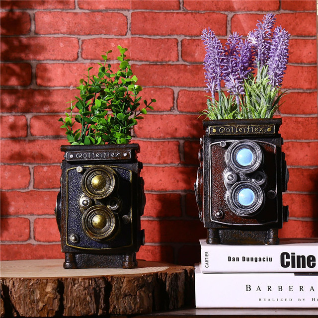 Vintage Table Craft Multifunction Camera Model Craft Storage Box Flower Pot Pen Holder Case Cube Camera Gift Novelty Craft 1