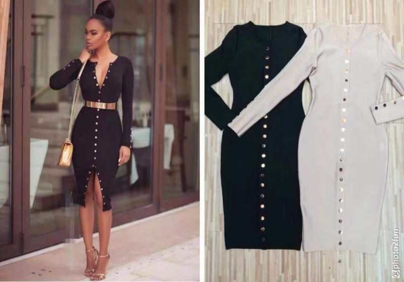 Beige Elegant V Neck Bridesmaid Dress: Aliexpress.com : Buy 2017 New Fashion Black Beige Long