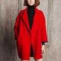 Женщины пальто зимнее пальто толще разделе одной кнопки пальто Лацкан пальто прямо зима Европейская Мода И Пиджаки