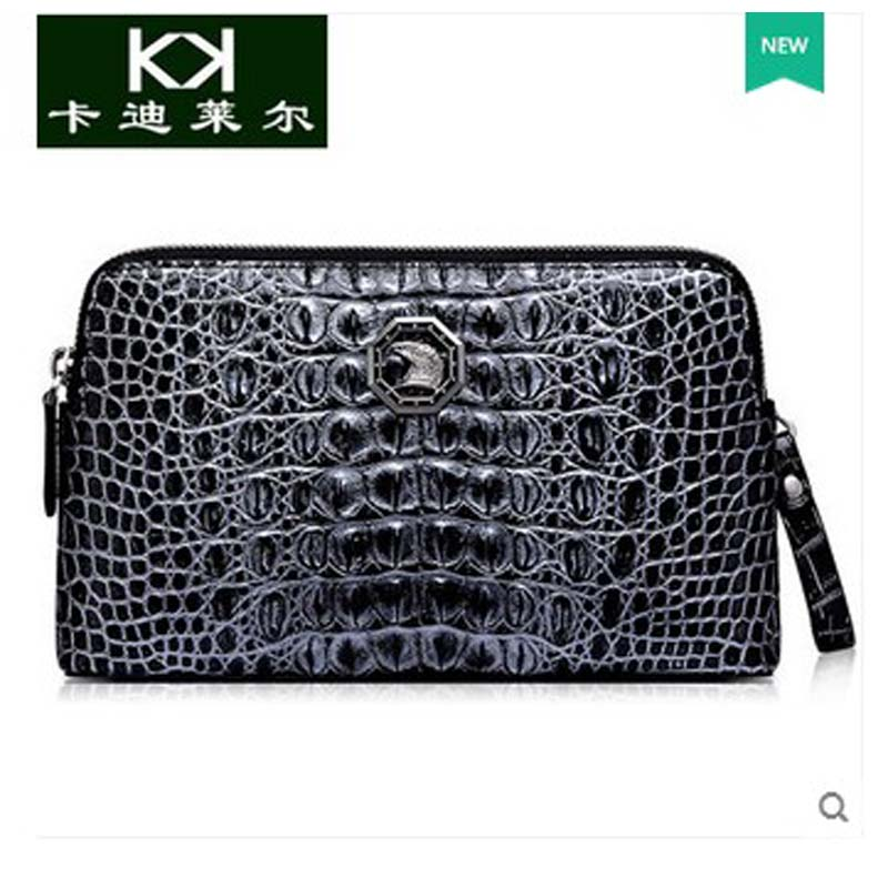 Kadiler Thailand crocodile real leather double zipper high-capacity man bag men clutches business men bags стулья для салона thailand such as
