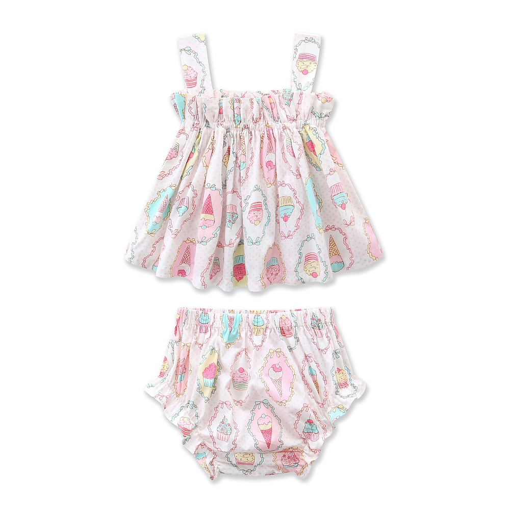 Set Baby Cloth 2019 Summer Ice Cream Toddler Girl Boutique Outfit (13)