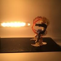 Hot Dragon Ball Son Goku Vegeta Strength Bombs Luminaria Night Table Lamp Holiday Gift Room Decorative Lighting In EU Plug