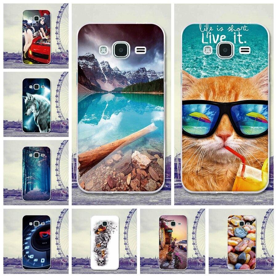 Galleria fotografica For Coque Samsung Galaxy J3 2016 Case Cover 5.0 Cat Cartoon Rubber TPU Silicone Case For Samsung Galaxy J3 J300F J310F J320F