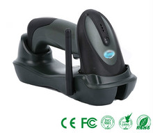 Handheld  USB Laser Long distance 433Mhz wireless laser barcode scanner with cradle For POS Label +Cradle Black