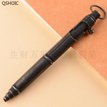 Роскошный подарок, латунная шариковая ручка с обычной коробкой, металлическая шариковая ручка, прессованный медный пистолет, болт, канцеля...