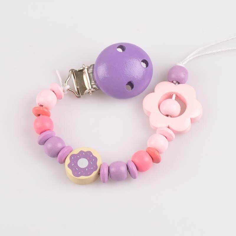1pcs Let's Make Baby Teething Pendant Bracelet Montessori Toys Set Dummy Pacifier Clips MT2065