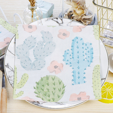 10pcs Lovely Cactus food-grate Printed napkin paper servilletas decoupage decorated Virgin Wood Tissue 33*33cm
