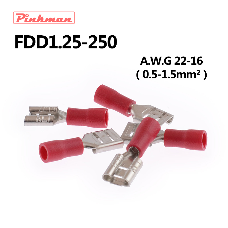 62224af146edb FDD1.25-250 Female Insulated Electrical Crimp Terminal for 0.5-1.5mm2  Connectors