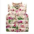 Vestido infantil Crianças Primavera Outono Jaquetas Crianças das Meninas Colete Floral Doce Para Baixo Algodão Quente Colete Roupa Das Crianças