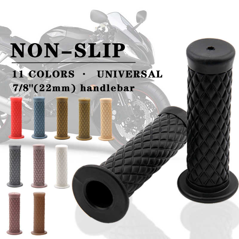 1 Pair Rubber Handlebar Grips Replacement for 22mm Bar Motorcycles