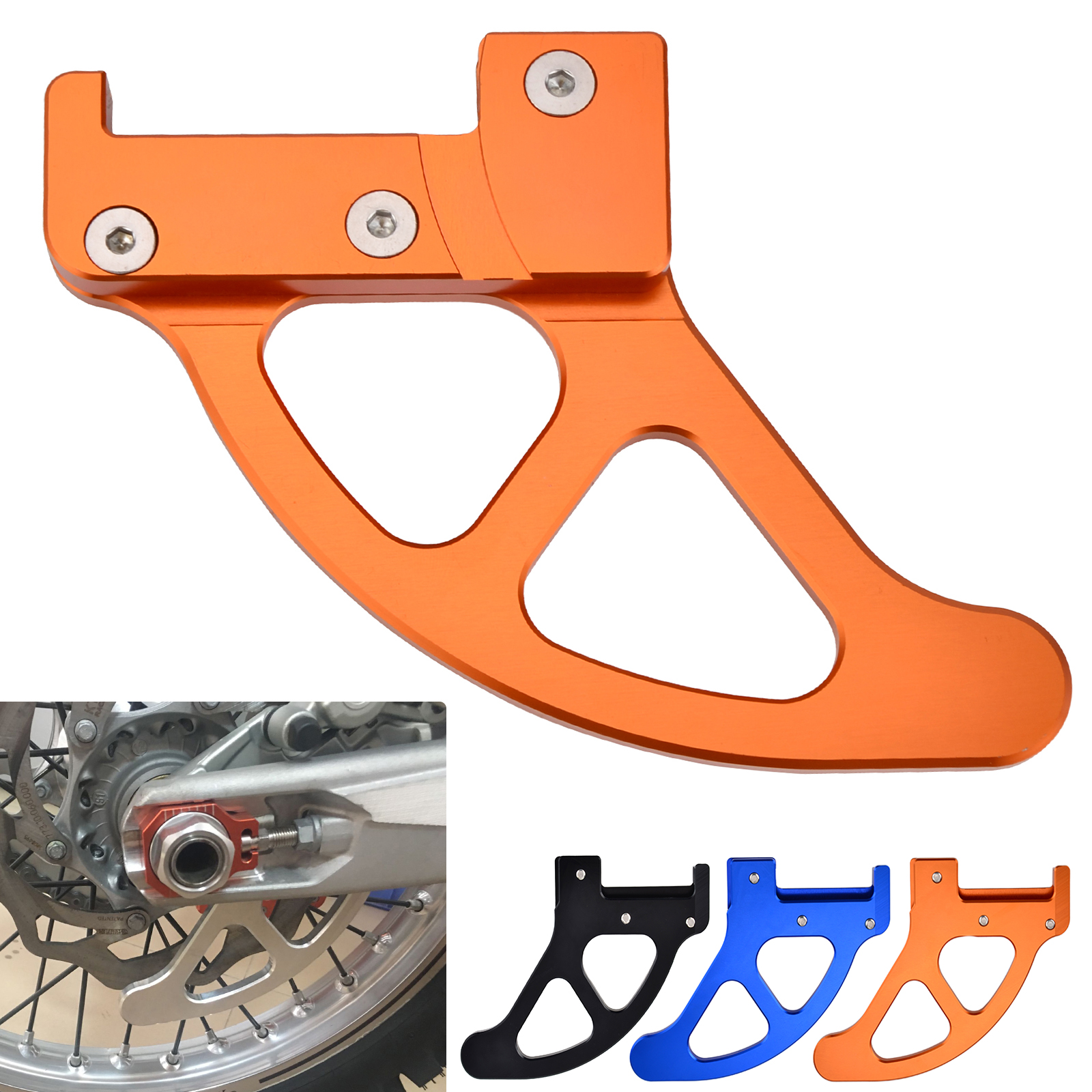 NICECNC Rear Brake Disc Guard Protector For KTM 125 200 250 300 350 400 450 525 530 EXC EXCF SX SXF XC XCF XCW Husqvarna 125-501 right left sides wp fork leg shoe guard protector cover for ktm 125 200 250 300 350 400 450 500 exc sx sxf xc xcf excf excw xcfw
